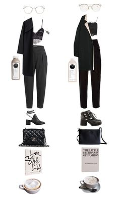 """Untitled #935"" by jayda-xx ❤ liked on Polyvore featuring Thom Browne, L'Agence, CÉLINE, Chanel, RetroSuperFuture, A Détacher, Shellys, Topshop, MANGO and Nly Shoes"