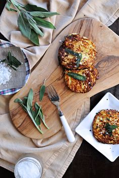 Parmesan Ricotta Spaghetti Squash Fritters With Crispy Fried Sage