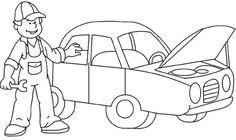 devoir Alphabet Coloring Pages, Cartoon Coloring Pages, Colouring Pages, Coloring Sheets, Coloring Books, Daycare Setup, People Who Help Us, Mechanical Art, Transportation Theme
