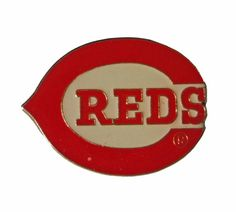 """CINCINNATI REDS Logo Baseball mlb vintage enamel pin badge OHIO Oh by VintageTrafficUSA  14.00 USD  A vintage Cincinnati pin! Excellent condition. Measures: approx 1"""" 20 years old hard to find vintage high-quality cloisonne lapel/pin. Beautiful die struck metal pin with colored glass enamel filling. These rare pins are proven to win you friends and influence people! Add inspiration to your handbag tie jacket backpack hat or wall. -------------------------------------------- SECOND ITEM SHIPS…"""