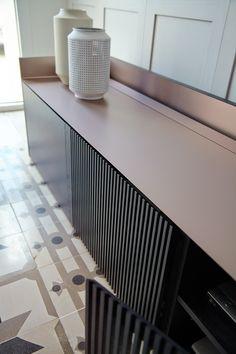 Wooden sideboard with doors Sideboard Furniture, Modular Furniture, Cool Furniture, Furniture Design, Credenza, Kitchen Interior, Interior Design Living Room, Modern Interior, Kitchen Design
