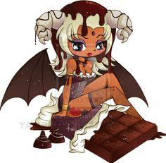Dark Chocolate Chibi Commission by YamPuff.deviantart.com on @deviantART
