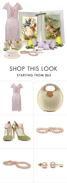 """""""Vintage Easter Dress... 1930's"""" by marvy1 ❤ liked on Polyvore featuring Valentino, Maison Michel and vintage"""