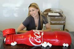 BIG COCA COLA BOTTLE CAKE!