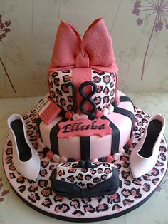 This Leopard Print Cake looks Awesome!