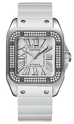 93dfd6be033 Cartier Santos 100 Mother of Pearl Moda
