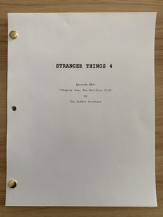 Netflix has just released a new 'Stranger Things' season 4 teaser video showing the cast – including David Harbour – gathered for a table read. Stranger Things Quote, Stranger Things Season 3, Stranger Things Netflix, Winona Ryder, Scary Documentaries, Duffer Brothers, Stranger Danger, Will Byers, Chapter One