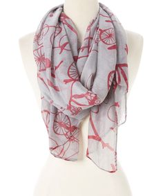 Look at this Gray Bicycle Scarf on #zulily today!