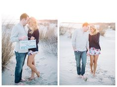 Mr & Mrs sign on the beach at Cape May | Brooke Bakken Photography | New Jersey Wedding Photographer | Cape May | Beach Engagement Session | Dreamy | NJ | Engagement Inspiration