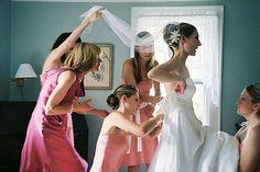 "Fun ""getting ready"" shot - website that lists good wedding shots"