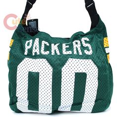 Green Bay Packers Jersey Tote...I have this, thanks to @Christa Vickers Vickers Petersen