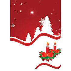 Red Christmas Brochure / Flayer template title vector illustration | Vector_Background_00000119