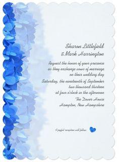Blue, Teal, Aqua Wedding Invitations
