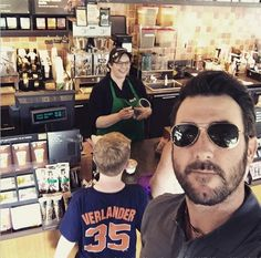Here's Justin Verlander taking a selfie with an unsuspecting fan. Reminder that your favorite player could be behind you...RIGHT. NOW.