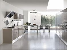 Eurolife offers a wide range of Italian designed kitchens, one of the modern kitchen design styles Replay-Gloria has a bright polymer with recessed handles. Stylish Kitchen, Modern Kitchen Design, Interior Design Kitchen, Kitchen Decor, Kitchen Designs, Layout Design, Design Ideas, Open Galley Kitchen, Shabby Chic Plates