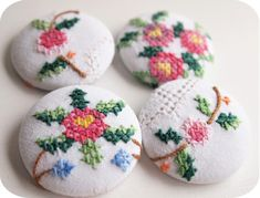 vintage covered buttons or earrings