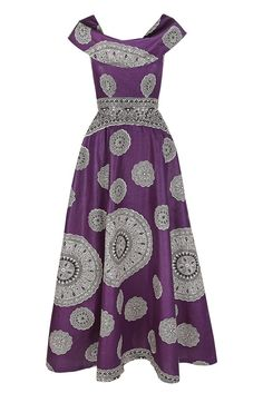 SIKA BOUTIQUE — Ruby Maxi Dress (Fusion Purple) ♥AFRICAN INSPIRED♥