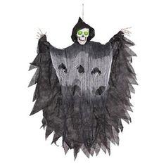 Halloween Hanging Light Up Reaper 3ft
