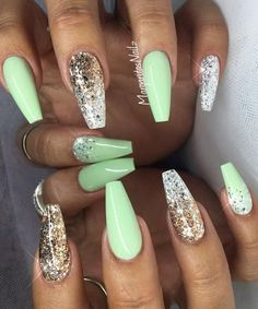 ✨✨✨#nails #nailart #coffinnails #summernails