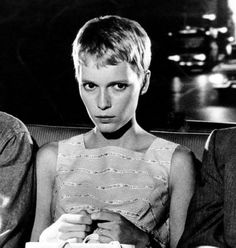 Fashion plays a huge role in Rosemary's Baby. Mia Farrow's baby-doll dresses, peter pan collars, bowler hats, ruffled nightgowns, and gamine hair cut all define her as child-like, gullible, and innocent...and add to the ultimate horror.