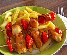 Fischstäbchen Schaschlik mit Pommes, ein sehr schönes Rezept aus der Kategorie Fisch. Bewertungen: 3. Durchschnitt: Ø 3,6.