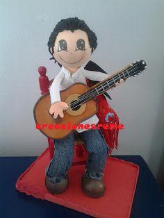 fofucha-creacionesreme-personalizadas-foami   fofucho guitarrista ,fofucho sentado #fofuchos