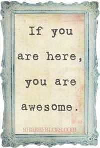 If your are here, you are awesome