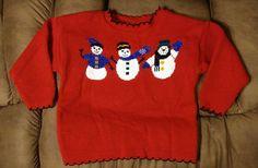 Girls Plaid Moose Red snowman Winter Multi Color Christmas sweater 2-4T NWT #PlaidMoose #DressyEverydayHoliday