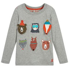 Boys Grey Cotton CHOMP Top for Boy by Joules. Discover the latest designer Tops for kids online Joules Kids, Grey Long Sleeve Tops, Asian Kids, Kids Online, Baby Shop, Kids Boys, Kids Wear, Kids Fashion, Child Fashion