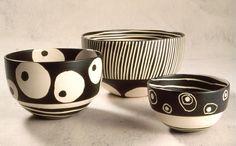 Kathy Erteman. 3 bowls.