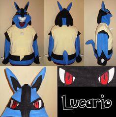 Lucario Pokemon hoodie cosplay by Bahzi on deviantART