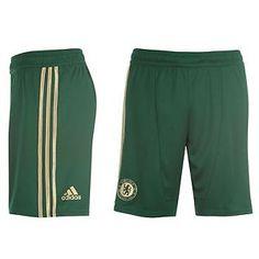 Chelsea FC mens green Adidas goalkeeper football shorts 2012-14 W38493 XXL  XXXL 1ea6e1748088