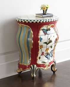 MacKenzie-Childs Butterfly Accent Chest