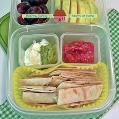 Healthy Eating Starts at Home: Quesadilla Strips with Layered Dip