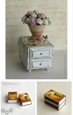 Miniature Dollhouse Furniture, Dollhouse Miniatures, Decorative Boxes, Diy, Home Decor, Ideas, Decorated Boxes, Furniture, Drawer Unit