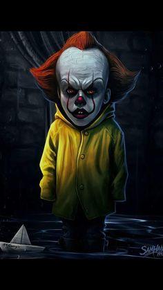 Horror Cartoon, Clown Horror, Funny Horror, Horror Icons, Arte Horror, Horror Art, Horror Movie Characters, Horror Movies, Stephen King Movies