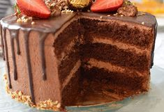 Julias zuckersüße Kuchenwelt: Schoko-Nougat Torte mit Videoanleitung Nougat Torte, Tiramisu, Food And Drink, Ethnic Recipes, Desserts, Marble Cake, Caramel, Bakken, Food And Drinks
