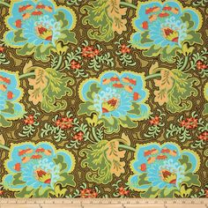 Amy Butler Belle Gothic Rose Blue Fabric by EmeraldCityFabrics Cool Fabric, Blue Fabric, Gothic, Amy Butler Fabric, Charm Pack Quilts, Hello Kitty Birthday, Amazon Art, Fabric Online, Fabric Painting