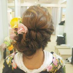 #ヘアアレンジ#ヘアセット#和装#色打ち掛け#着物#Instagram#wedding#bridal#hair#hairstyle #結婚式#プレ花嫁 #メイクリハーサル