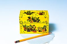Vintage Recipe Index Card File. Easter Gift. Lithographed by PROPZ, $29.00