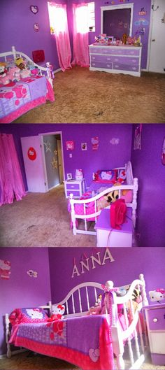 """Bedroom Designs Hello Kitty i so want to do this! we'll see how quickly the """"i don't care, do"""