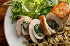 Chicken Stuffed with Spinach and Feta  Simple ingredients - nutritious - guest will think you're amazing!