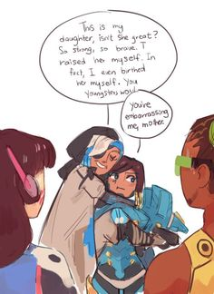 Overwatch - Pharah and Mama Amari