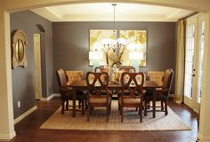 Traditional Dining Photos Grey Tan Design, Pictures, Remodel, Decor and Ideas