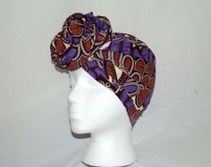 Beautiful Peacock Super Wax Ankara Headwrap Protective Headpiece  #headwrap #superwax #ankara #peacock #africanprints #fashion #summer #hat #coverup #musthave #purple #brown #multicolor #treasureeutopia