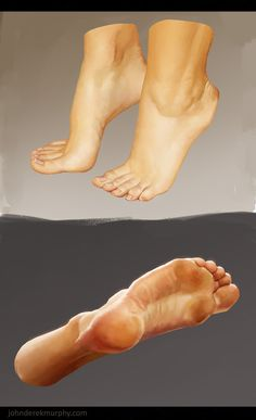 Feet study 1, John Derek Murphy on ArtStation at http://www.artstation.com/artwork/feet-study-1