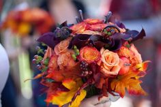A fall wedding with candy and science | Offbeat Bride