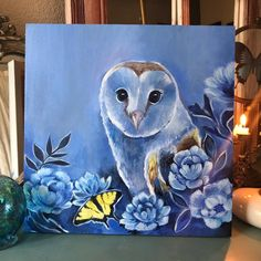 Sierra Briggs Art - Barn Owl Painting Owl Wings, Small Owl, Beautiful Owl, Sculpture Painting, Small Paintings, Owl Art, Wildlife Art, Learn To Paint, Painting Inspiration