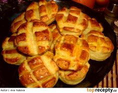 Maďarské domáce zemiakové pagáče Apple Pie, Waffles, Biscuits, Cooking Recipes, Bread, Meals, Breakfast, Desserts, Food
