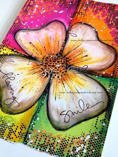 "Art Journal Page: ""Speed Painting - DYLUSIONS PAINTS & NEOCOLORS II"" by nikainwonderland"